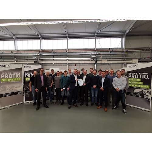 PROTIQ is now an industrial additive manufacturing facility with a TÜV SÜD seal of approval